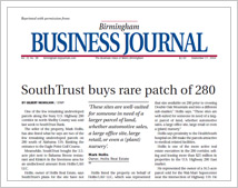 SouthTrust buys rare patch of 280